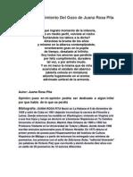 Poema Renacimiento Del Gozo de Juana Rosa Pita
