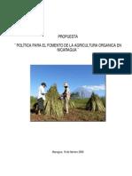 Propuesta Politica Agricultura Organica en Nicaragua