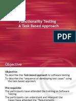 Functional Testing-Task Based