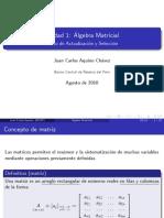 Unidad 1 Álgebra matricial