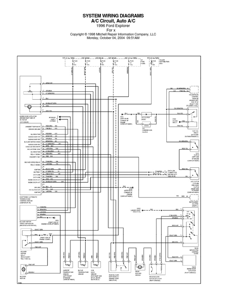 wiring diagram for 1996 ford explorer the wiring diagram ford explorer 1996 electric wiring diagram