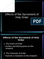 Effects of the Sacrament of Holy Order