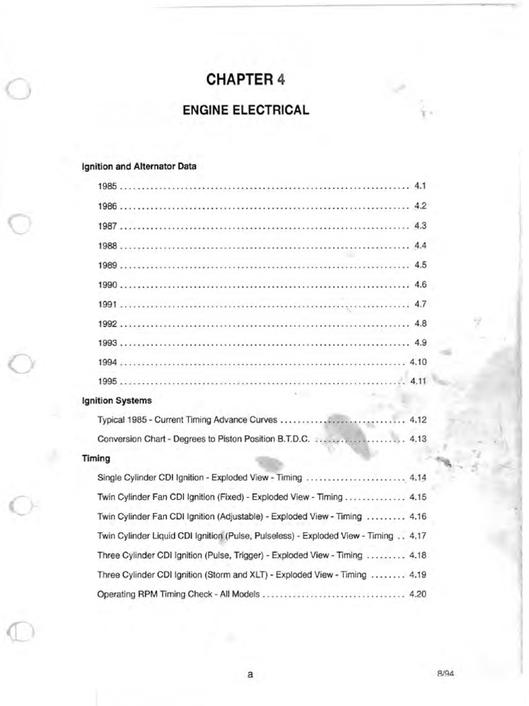 H-C Engine - 85 Engine Electrical - Inc Wiring Diagram - Electric Start |  Ignition System | Vehicle Parts