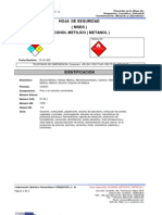 Msds Msds-Alcohol Meitilico Metanol