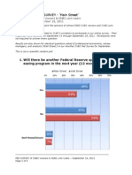 CNBC Fed Survey - Audience Results, September 19, 2011