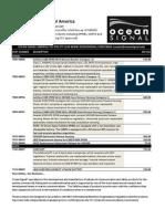 ocean signal retail price list