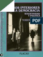 Lechner, Norbert - Los patios interiores de la democracia subjetividad y política