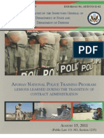 Audit of the Afghan National Police