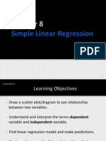 Chapter 8 Simple Linear Regression