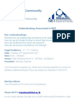 NLCS - Understanding Assessment in MYP
