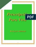 Prescripción Para Vivir - Amatu'l-Bahá Rúhíyyih Khánum