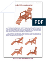 Adjustable Wooden Chair