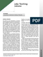 Auto Antibody Testing for Autoimmune Disease
