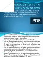 Prerequisites for a Mighty Man of God