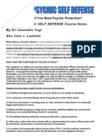 Spiritual Psychic Self Defense Course Notes John v Ladalski