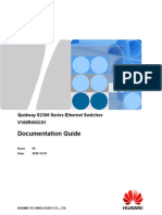 Quidway S2300 Series Ethernet Switches Documentation Guide(V100R005C01_02)