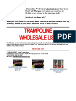 Trampoline Wholesale List Bb292b