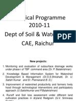 Dept of SWE Tech Prog NARP 2010