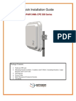 ISPAIR 54Mb CPE 500 Quick Configuration Guide