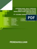 Laporan Hasil Walk Through Survey Penerapan Sistem Manajemen