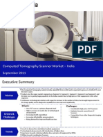 Market Research Report :CT Scanner Market in India 2011