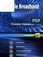 Mobile Broadband Technology (Overview) 2010