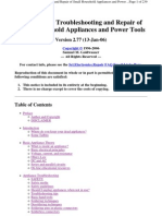 Troubleshooting and Repair of Small Household Appliances and Power Tools