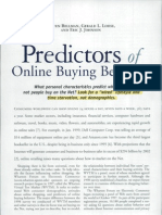 Predictors of Online Buying Behaviour
