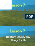 G2 Lesson 7 -Baptism Does Many Things for Us