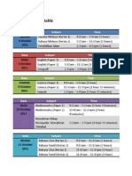 PMR 2011 Timetable