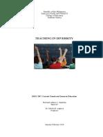 Teaching in Diversity
