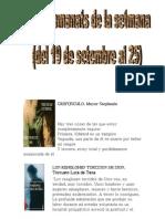 Els Recomanats de La Setmana _19 de Setembre Al 25