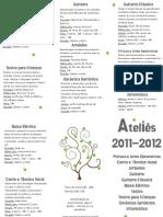 Folheto ateliês 2011-12