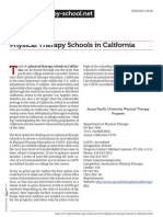 Physical Therapy Schools in California