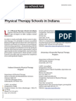 Physical Therapy Schools in Indiana