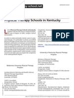 Physical Therapy Schools in Kentucky