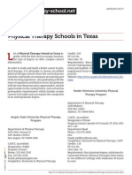 Physical Therapy Schools in Texas
