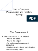 Computer Programming and Problem Solving