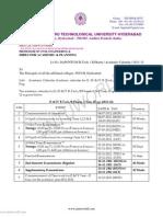 Academic Calander 2011- 2012