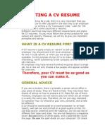 Writing a Cv Resume