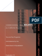 Understanding Your Rights as a California Taxpayer, Pub. 70 (Cal. BOE Sept. 2011)