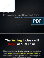 Writing 1 - Lecture 2 (Student)