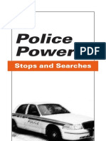 Police Powers Stops and Seaches
