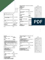 Sample Exam Test