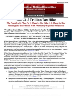 The $1.5 Trillion Tax Hike