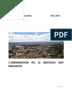 L'urbanisation ou le nouveau défis malgache (Banque Mondiale - 2011)