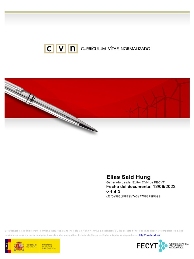 Curriculum Vitae Elias Said Hung Phd