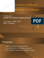 Effective Methods of Software Testing