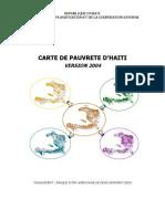 Carte de pauvrete d' Haiti - Version 2004