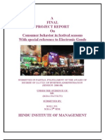 Consumer Behavior in Festival Seasons With Special Reference